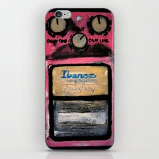 Ibanez AD-9 Analog Delay Guitar Pedal Acrylic Painting  iPhone & iPod Skin