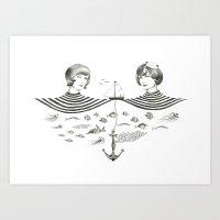 Twins 1 Art Print