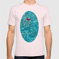 Petal Pool Mens Fitted Tee Light Pink SMALL