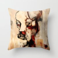 Portrait of a Distracted Man Throw Pillow