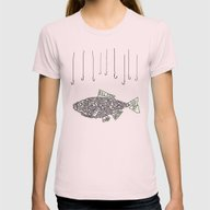 Kill Fish! Womens Fitted Tee Light Pink SMALL