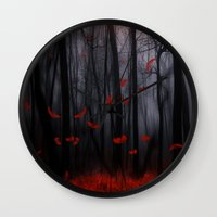 Red Feather Dance  -  By… Wall Clock