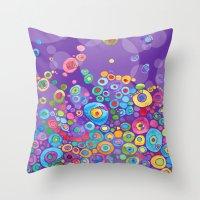 Inner Purple Throw Pillow