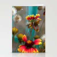 Fiery Flowers Stationery Cards