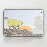 a pug turns into a rock robot Laptop & iPad Skin