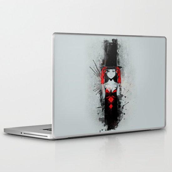 Top Hat Lady Laptop & iPad Skin