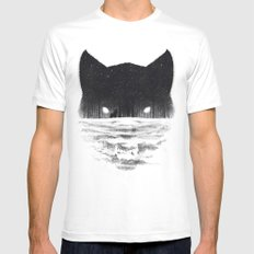 Wolfy White Mens Fitted Tee SMALL