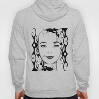 Black and white face ornament Hoody