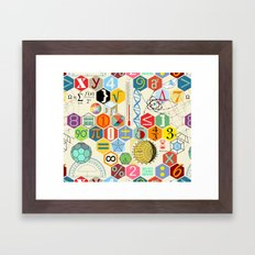 Math in color Framed Art Print