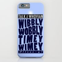 iPhone & iPod Case featuring Talk Whovian To Me (alternate version) by trekvix