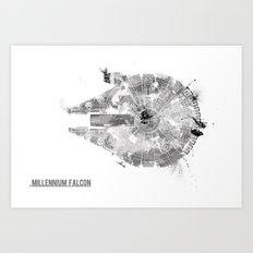 Star Wars Vehicle Millen… Art Print