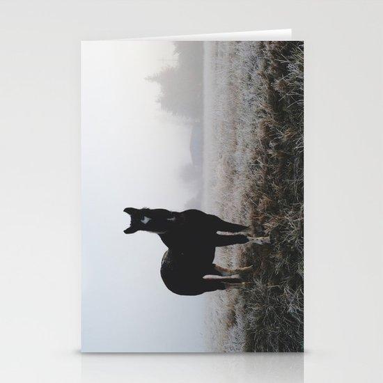 Frosty Klamath Horse Stationery Card