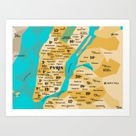 Paris Sur New York Art Print
