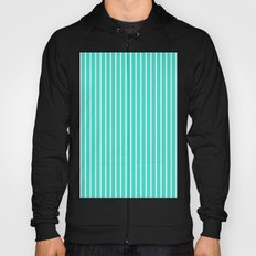 Vertical Lines (White/Turquoise) Hoody
