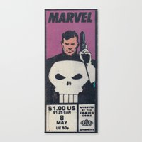 One Dollar Punisher Canvas Print