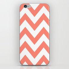 CORAL CHEVRON iPhone & iPod Skin