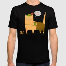 Oktoberfest Kitty Black SMALL Mens Fitted Tee