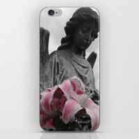 Angel Holding Flowers #2 iPhone & iPod Skin