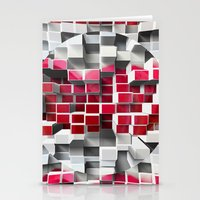 High and Low cubes Stationery Cards