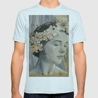 Portrait Mens Fitted Tee Light Blue SMALL
