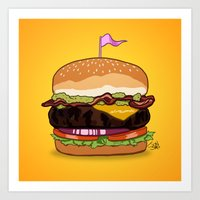 Bacon Cheeseburger Art Print