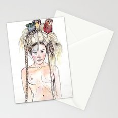 Owls in the head Stationery Cards
