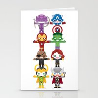 THE AVENGER'S 'ASSEMBLE' ROBOTICS Stationery Cards