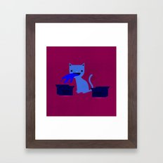 My Cat is a Dick Framed Art Print