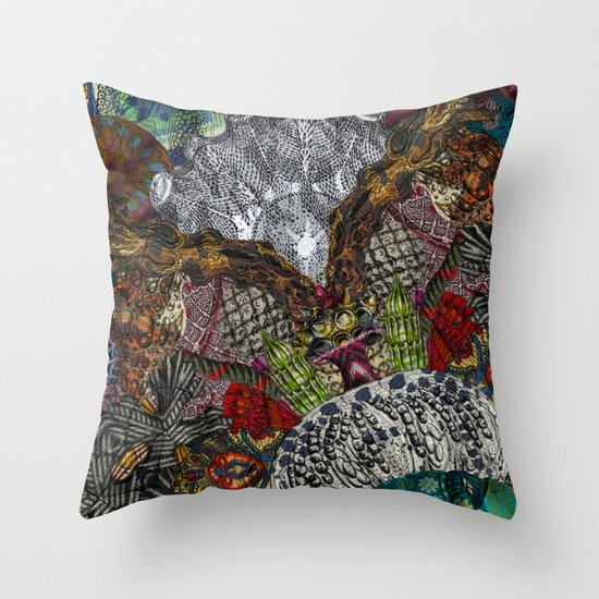 Psychedelic Botanical 13 Throw Pillow