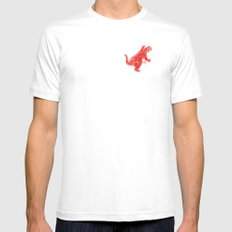 Godzilla White Mens Fitted Tee SMALL