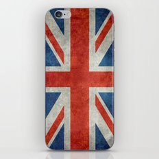 Square Union Jack retro style, made for the Pillows, Duvets and Shower curtains iPhone & iPod Skin