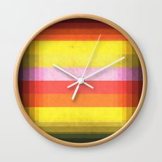 Warm Color Stripes Wall Clock