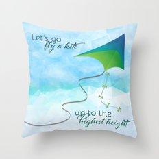 Let's Go Fly A Kite! Throw Pillow