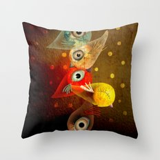 Lighting Birds Whimsical Art Throw Pillow
