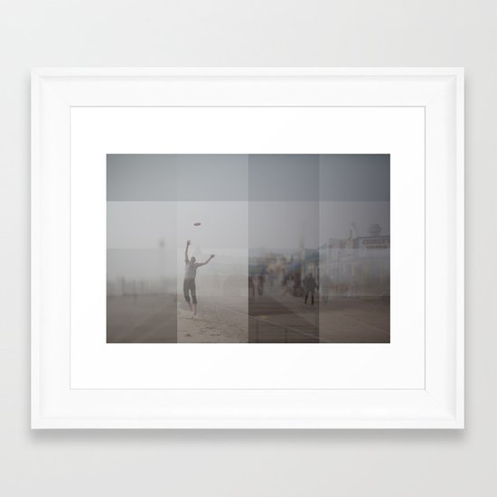 Ocean City, NJ Collage Framed Art Print