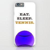 Eat. Sleep. Tennis. (Bla… iPhone 6 Slim Case