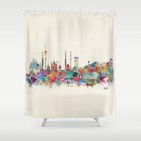 Delhi India Skyline Shower Curtain