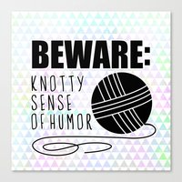 Funny Crochet Knit Humor… Canvas Print