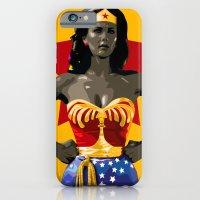 iPhone & iPod Case featuring wonderwoman by Ciaran Monaghan Art
