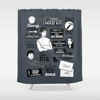 Horrible's Quotes Shower Curtain