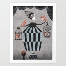 The Bird Act Art Print