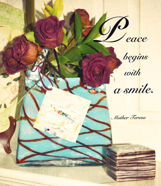 Peace begins with a smile Art Print
