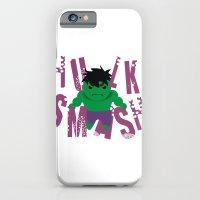 iPhone & iPod Case featuring Hulk Smash by momolady