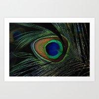 Peacock Eye Art Print