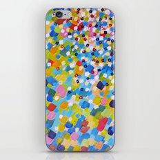 SWEPT AWAY 1 - Bright Colorful Rainbow Blue Ocean Waves Mermaid Splash Abstract Acrylic Painting iPhone & iPod Skin