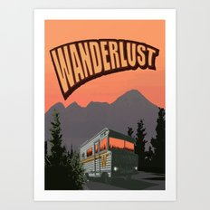 Wanderlust Travel Poster Art Print