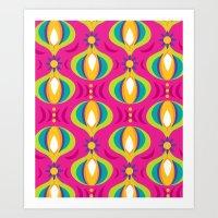 Oohladrop Fuschia Art Print