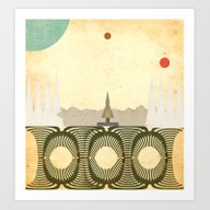 Art Print featuring Outer Space Station by Tammy Kushnir
