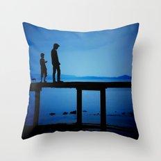 WHEN I'M FEELING BLUE Throw Pillow