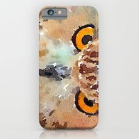owl iPhone & iPod Cases featuring Owl by contemporary